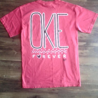 Crimson Okie T shirt