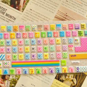 Rainbow Color with Dot Pattern Keyboard Protective Film [593]