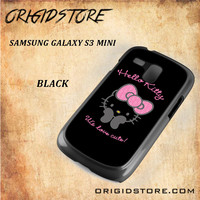 Hello Kitty Snap on 2D Black and White Or 3D Suitable With Image For Samsung Galaxy S3 Mini Case