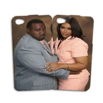 Cute Fat Kim Kardashian Kanye West Funny Phone Case iPhone 4 4s 5 5s 5c 6 6s +