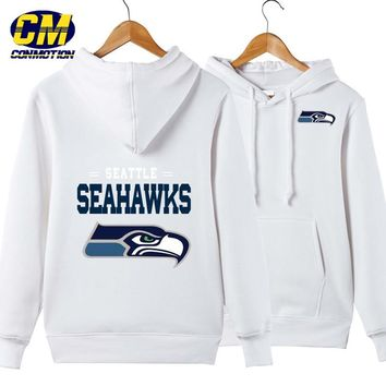 NFL American football Men's casual hoodie fashion sweatshirt outdoor sports pullover Seattle Seahawks