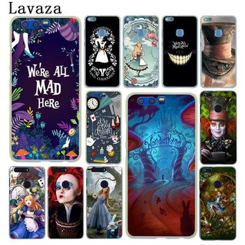 Lavaza Alice in Wonderland cat Hard Phone Case for Huawei Mate 10 Lite Pro for Honor 6C 7A Pro 8 9 Lite 6A 7X 7C 9i Shell Cover