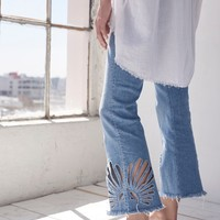 Free People Freja Crop Bell Jeans