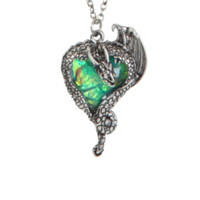 LOVEsick Gem Heart Dragon Necklace