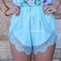 LUSH LIFE SHORTS , DRESSES, TOPS, BOTTOMS, JACKETS & JUMPERS, ACCESSORIES, SALE, PRE ORDER, NEW ARRIVALS, PLAYSUIT, COLOUR, GIFT VOUCHER,,SHORTS,Blue,LACE Australia, Queensland, Brisbane