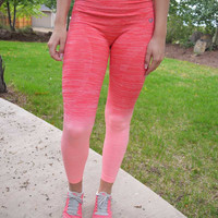 Sweat It Out Leggings-Coral