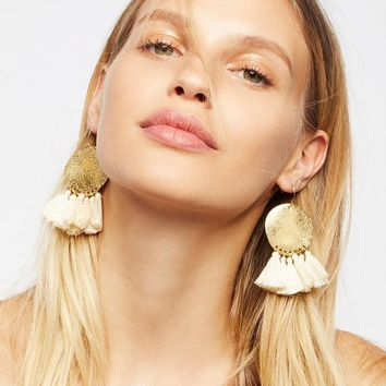 Fashion Geometric Metal Disc Tassel Earrings Women Bohemia Dangle Earrings Jewelry Wedding Gifts Statement