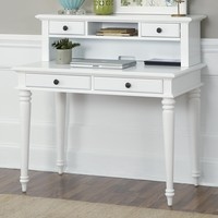 Home Styles Bermuda Writing Desk with Hutch