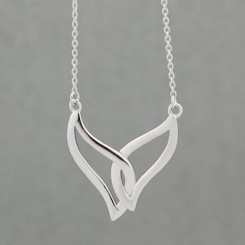 Two Fins One Tail Mermaid Necklace