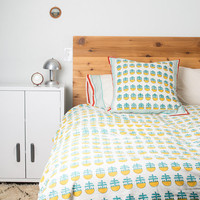 Yellow Blossom Queen/Full Size Duvet Set