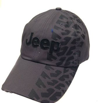 DCCKUG3 Jeep Hat w/Weathered Tire Track Design Print
