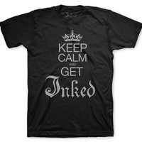 """Keep Calm and Get Inked"" Guy's T-Shirt"