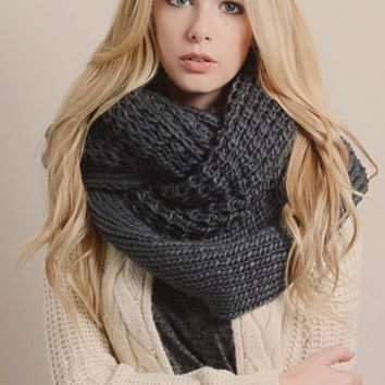 To Infinity and Beyond Scarf in Charcoal