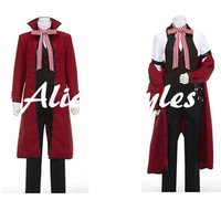 Black Butler Kuroshitsuji Death Grell Sutcliff Custom Cosplay Red Costume Outfit Custom Made to Order