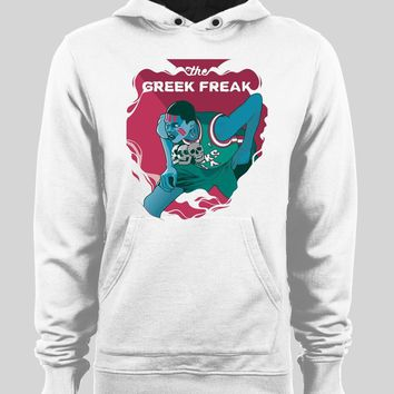 GIANNIS ANTETOKOUNMPO GREEK FREAK VOODOO ART HOODIE /SWEATER