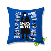 Sherlock Quotes Square Pillow Cover