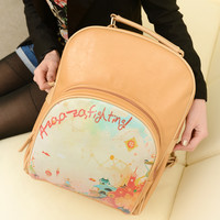 Vintage Cartoon Oil Painting Backpack