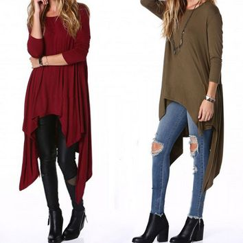 Irregular Fashion Long-Sleeved Dress