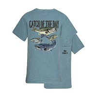 Southern Couture Priority Catch Of The Day Fishing Pocket Unisex T-Shirt