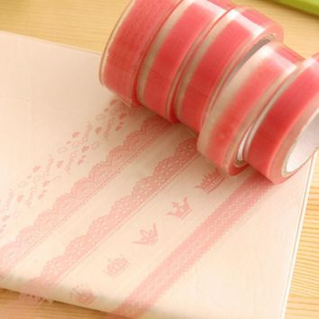 2pcs/lot Kawaii Lace Washi Tape Set DIY Decorative Adhesive Tape Masking Tape Scrapbooking Paper Decorative Scotch Tape