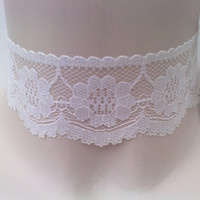 Classic Wide Gorgeous WHITE or BLACK LACE 40mm by TwirlyTrinkets