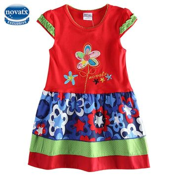 NOVA kids summer clothes baby girls frocks striped kids dress fashion design hot selling childen dress for kids girls