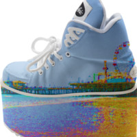 Funky Pixels Santa Monica Pier Buffalo Platform Shoes created by stine1 | Print All Over Me