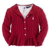 Ralph Lauren Childrenswear Baby Girls Cotton Cardigan