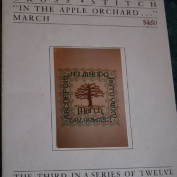Curtis Boehringer Cross Stitch Pattern Sampler Book March In The Apple Orchard