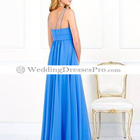 New Arrival Light Blue Off-the-shoulder Satin and Chiffon Bridesmaid Dress [T6525] - $83.99 : wedding fashion, wedding dress, bridal dresses, wedding shoes