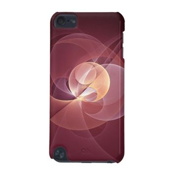 Movement Abstract Modern Wine Red Pink Fractal Art iPod Touch (5th Generation) Case