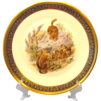 Four Boehm Woodland Wildlife Series Plates by Lenox