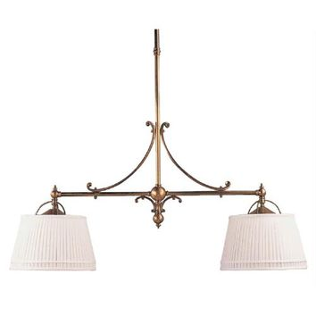 Visual Comfort and Company CHC5102AB-L Antique Brass Sloane Shop Two-Light Island Pendant