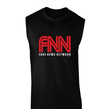 Fake News Network Funny Dark Muscle Shirt  by TooLoud