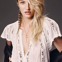 Free People Womens FP ONE Flower Chain Top