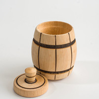 Free shipping. Unusual container for storage of spices in the form of barrels. Original accessory for your kitchen.