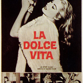 La Dolce Vita 11x17 Movie Poster (1961)