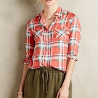 Dakota Buttondown by A.Z. for Anthropologie Red Motif