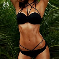 Sexy Female Halter Mesh Micro Thong Push Up Bikini Beach Bathing Swimwear Women High Neck Bikini Swimsuit