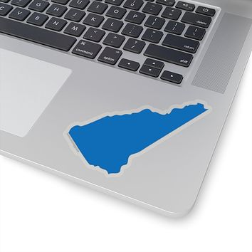 New Hampshire State Shape Sticker BLUE