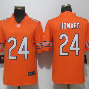 New Nike Chicago Bears 24 Howard Orange 2017 Vapor Untouchable Limited Player