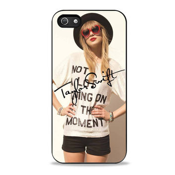 beatiful taylor swift signature actress music Iphone 5 Case