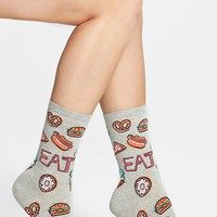 Women's Hot Sox 'Diner Food' Crew Socks