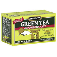 Walmart: Bigelow Green Tea With Pomegranate, 1.37 oz, 20ct (Pack of 6)