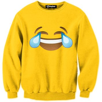 Emoji Crying Laughing Crewneck