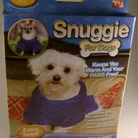 Lot 2 Snuggie for Dogs Blanket Coat Sleeves Blue Extra Small Fleece Adjustable