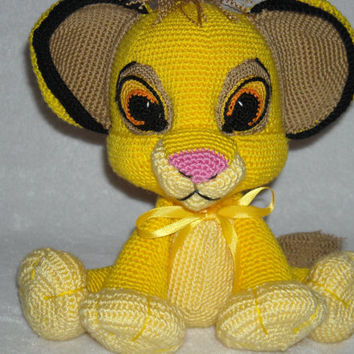 Super cute lion cub Simba . Amigurumi crochet,  Lion Crochet, Stuffed Doll, Toy.