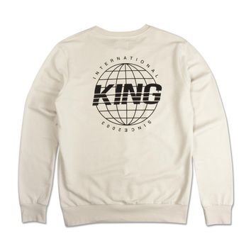 King Apparel - Bethnal Summer Trackset Crew - Cement