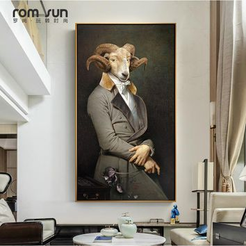 Nordic Style Goat Count Poster Cavans Painting Wall Art Pictures For Living Room Home Decor Fashion HD Posters And Prints LS044