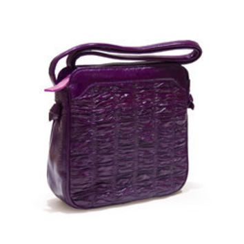 Eel Skin Ruched Strappy Bag